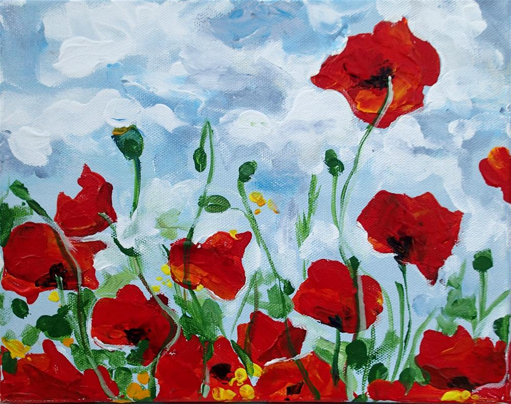 """Poppies"" original fine art by Lauren Kuhn"