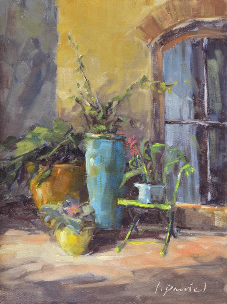 """Jennifer's Garden"" original fine art by Laurel Daniel"