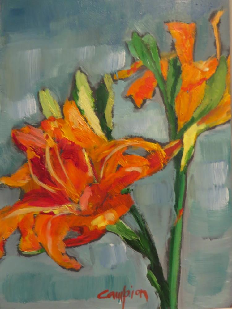 """653 Frilly Lily"" original fine art by Diane Campion"