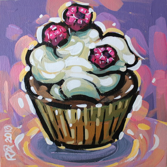"""Cupcake 24"" original fine art by Roger Akesson"