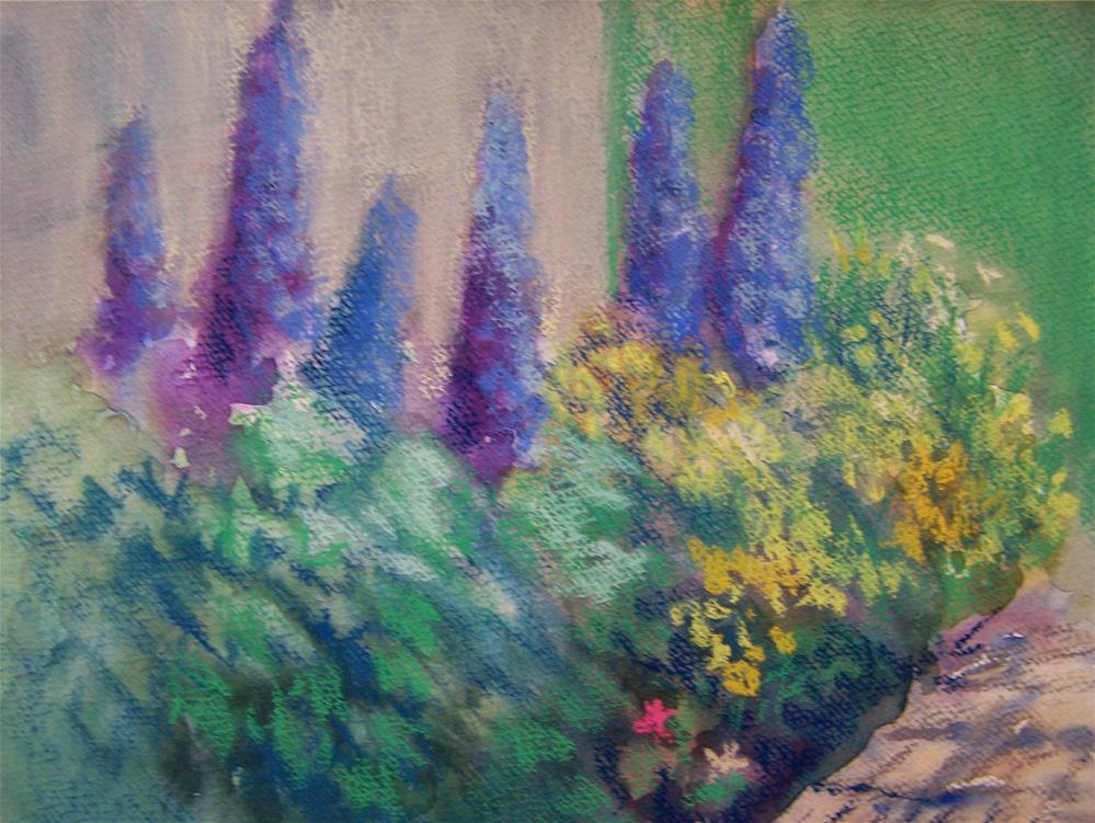 """My Garden"" original fine art by Joan Reive"
