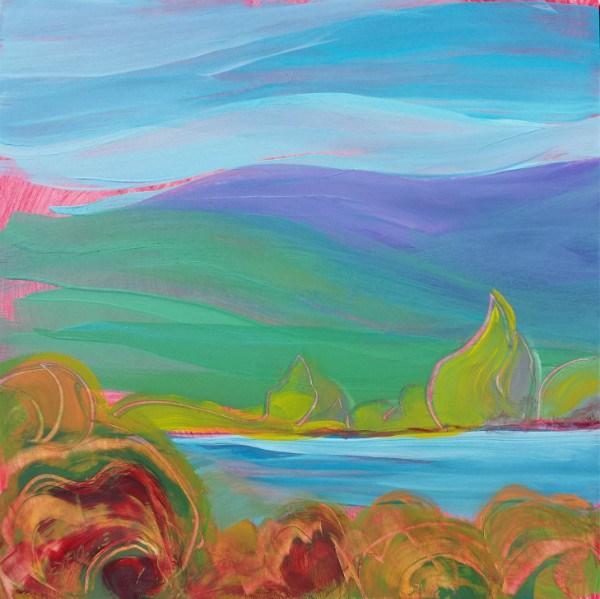 """Valley Morning 25"" original fine art by Pam Van Londen"