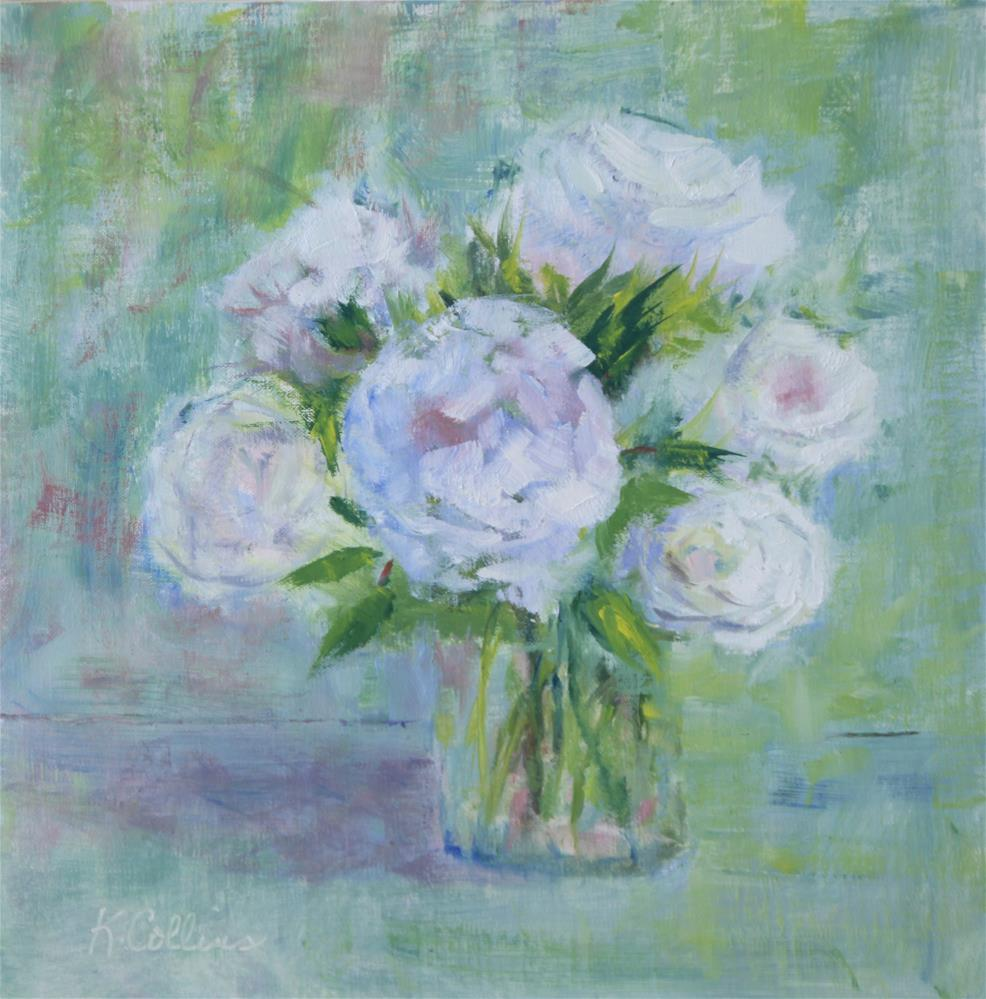 """Roses for You"" original fine art by Kathy Collins"