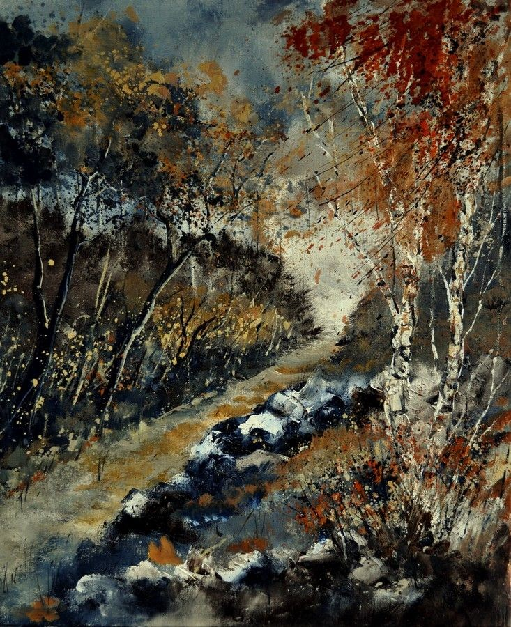 """november 672110"" original fine art by Pol Ledent"