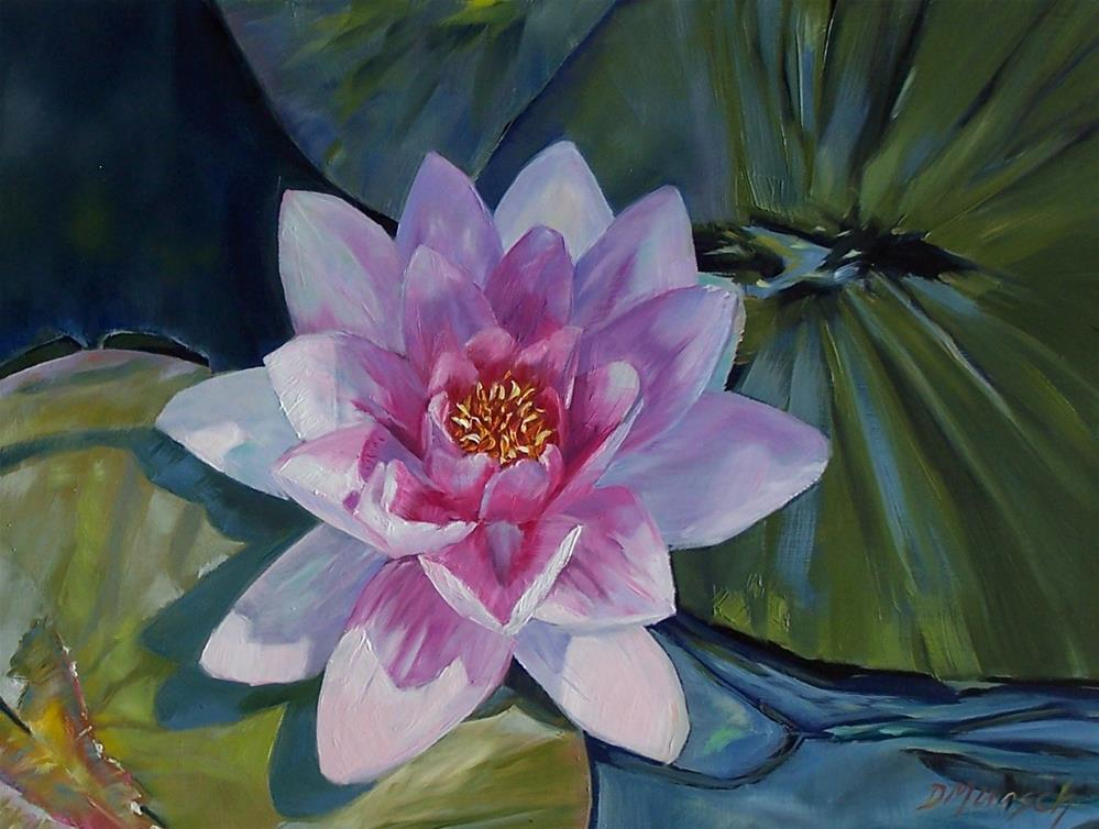 """Pink Water Lily"" original fine art by Donna Munsch"