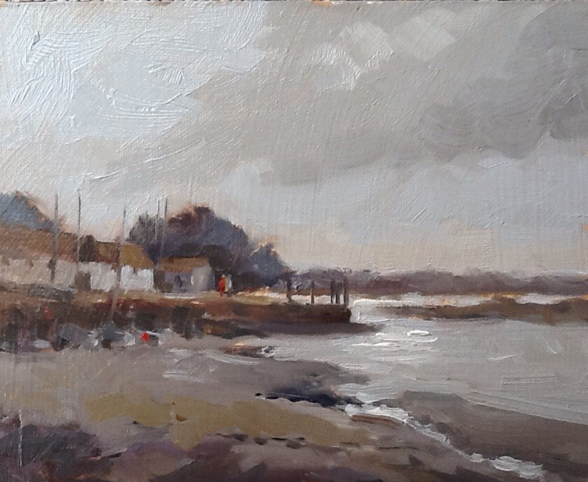 """Brancaster Staithe, Norfolk"" original fine art by Mo Teeuw"