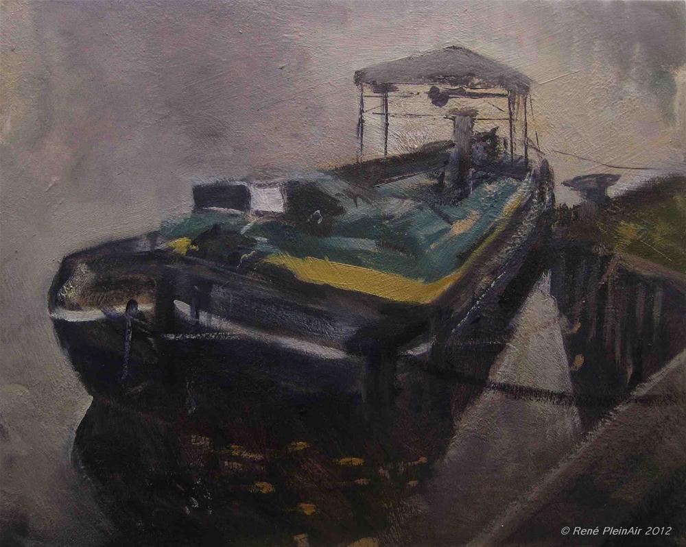 """Ride at anchor. Doetinchem, Holland."" original fine art by René PleinAir"