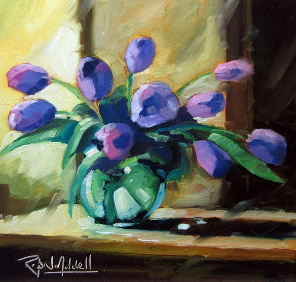 """No 555 Fresh Flowers"" original fine art by Robin J Mitchell"
