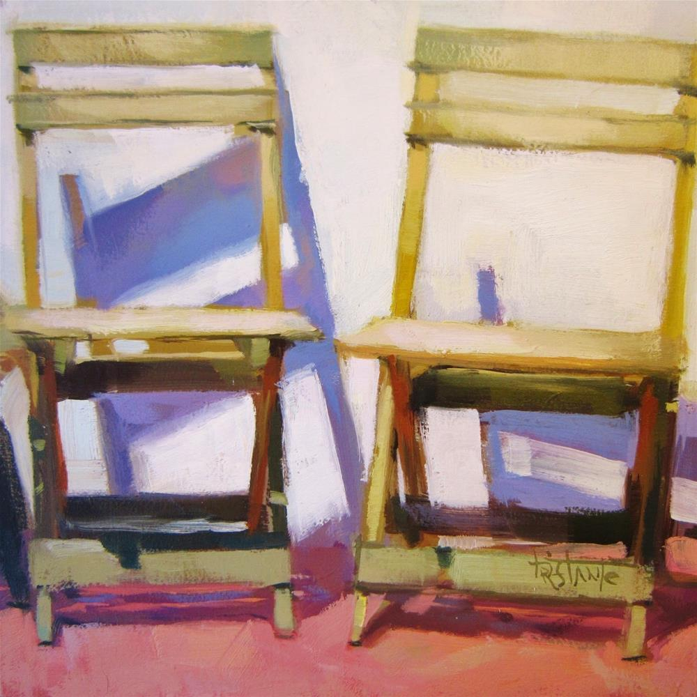 """Two chairs"" original fine art by Víctor Tristante"