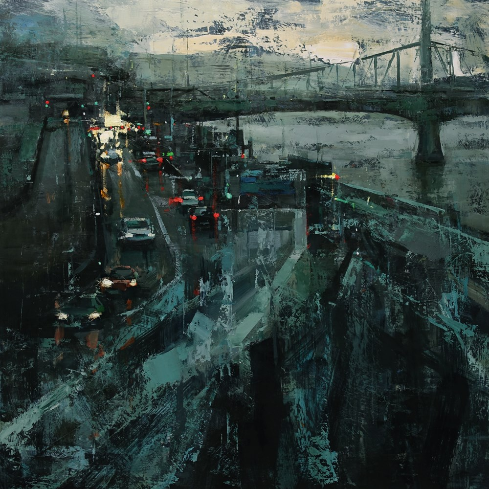 """Nocturne"" original fine art by Tibor Nagy"
