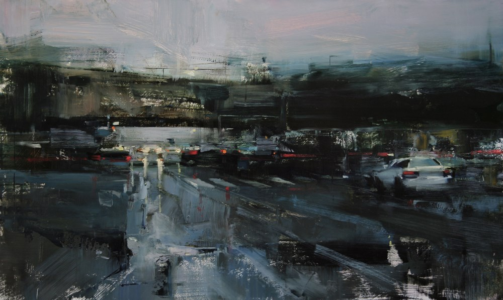 """Friday Evening"" original fine art by Tibor Nagy"