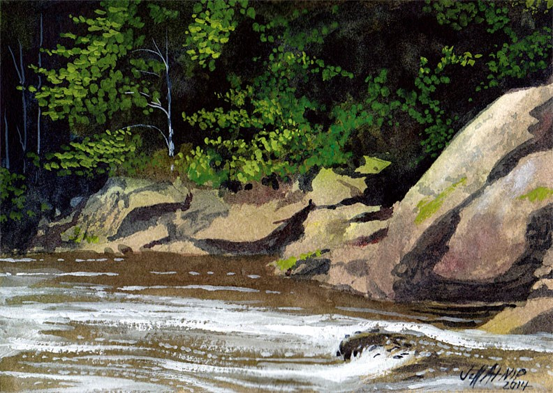 """Tellico Flow"" original fine art by Jeff Atnip"