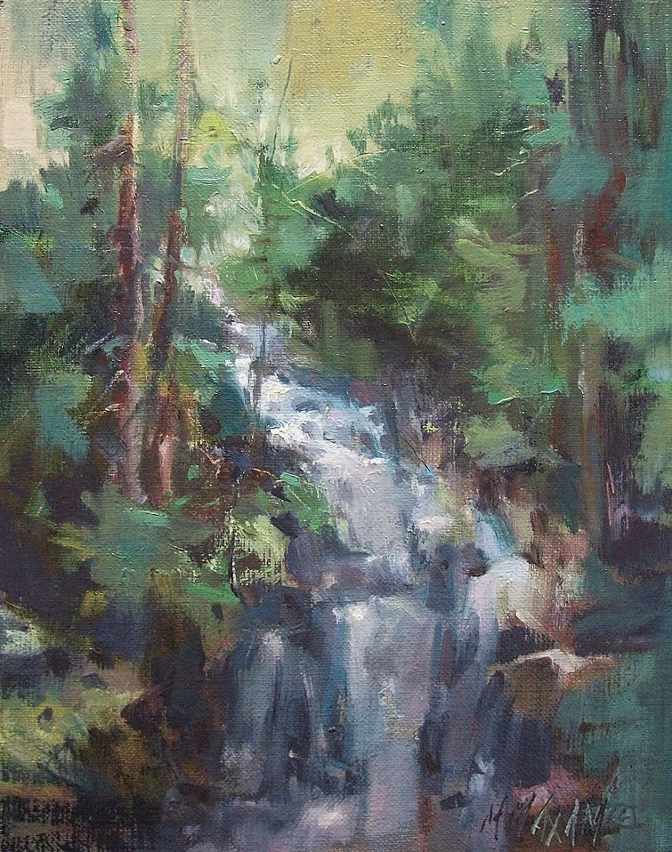 """Shadow Falls"" original fine art by Mary Maxam"