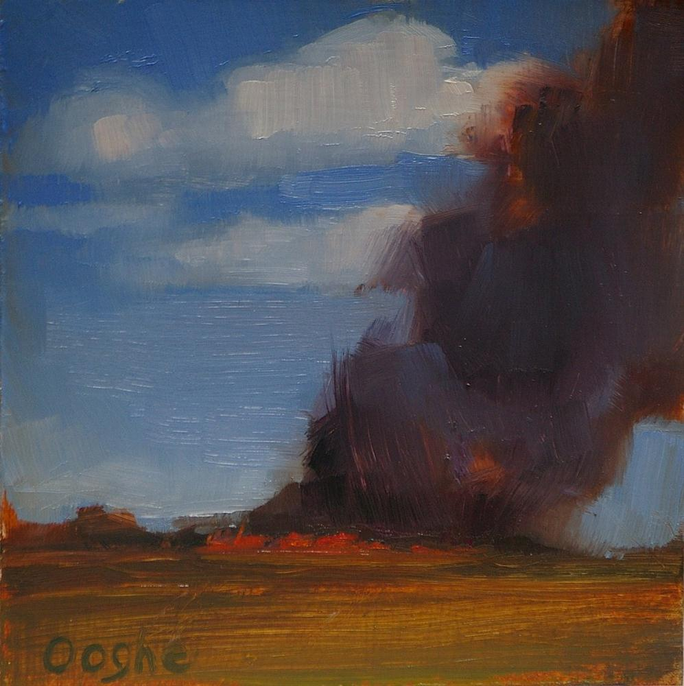 """Burning Sugar Cane Field"" original fine art by Angela Ooghe"