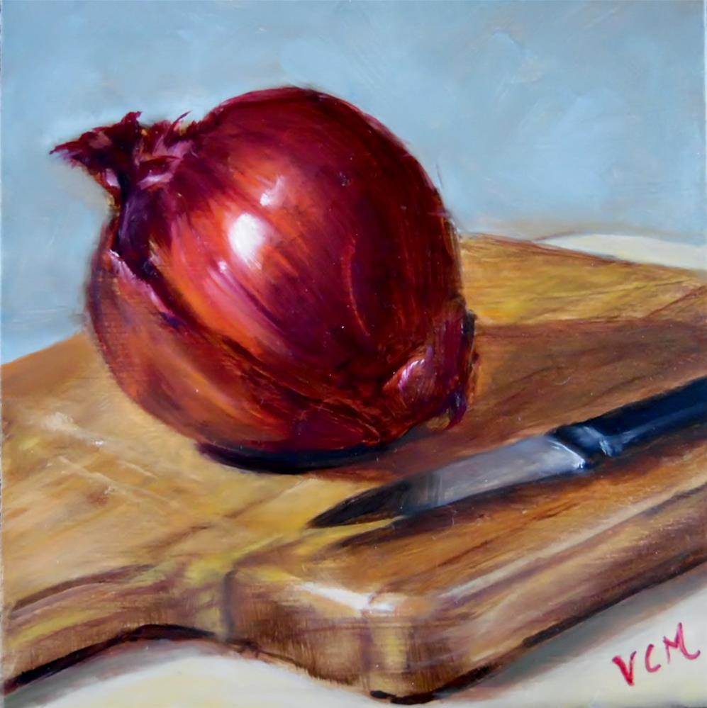 """Red Onion Delight"" original fine art by Vana Meyers"