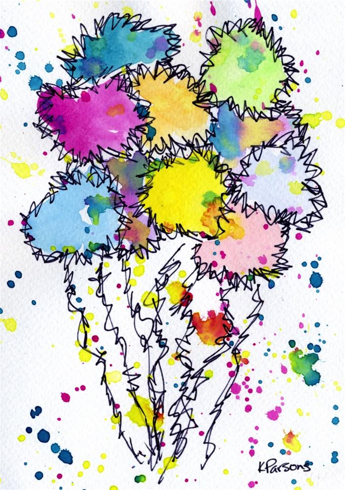 """Truffula Bouquet"" original fine art by Kali Parsons"