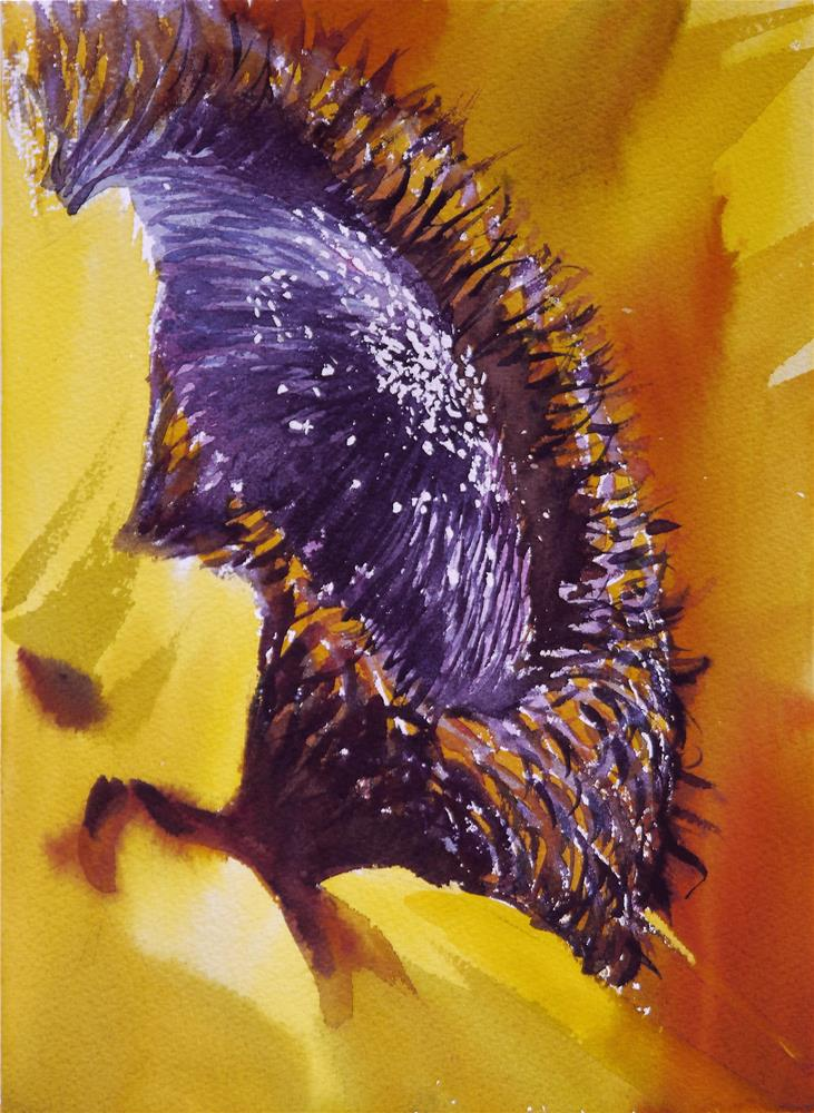 """sunflower diagonal"" original fine art by Beata Musial-Tomaszewska"