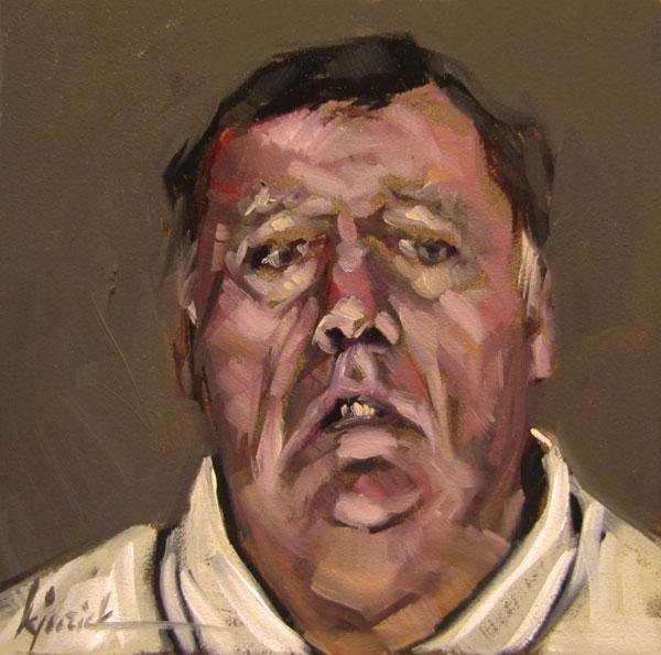 """100 Faces, No. 31"" original fine art by Karin Jurick"