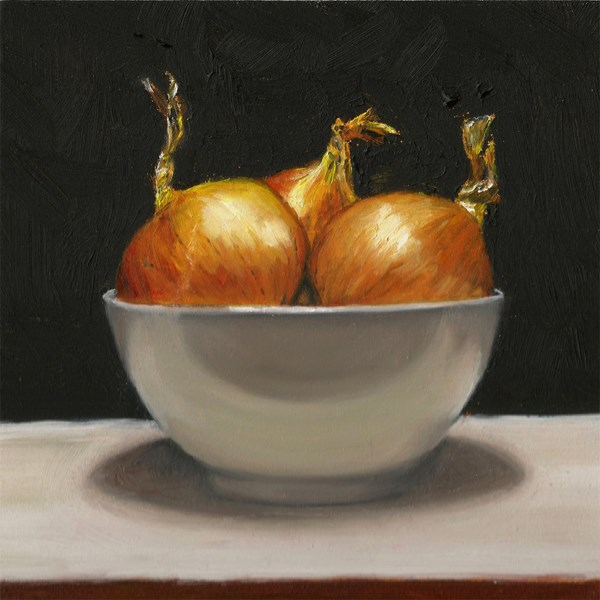 """Bowl of onions"" original fine art by Peter J Sandford"