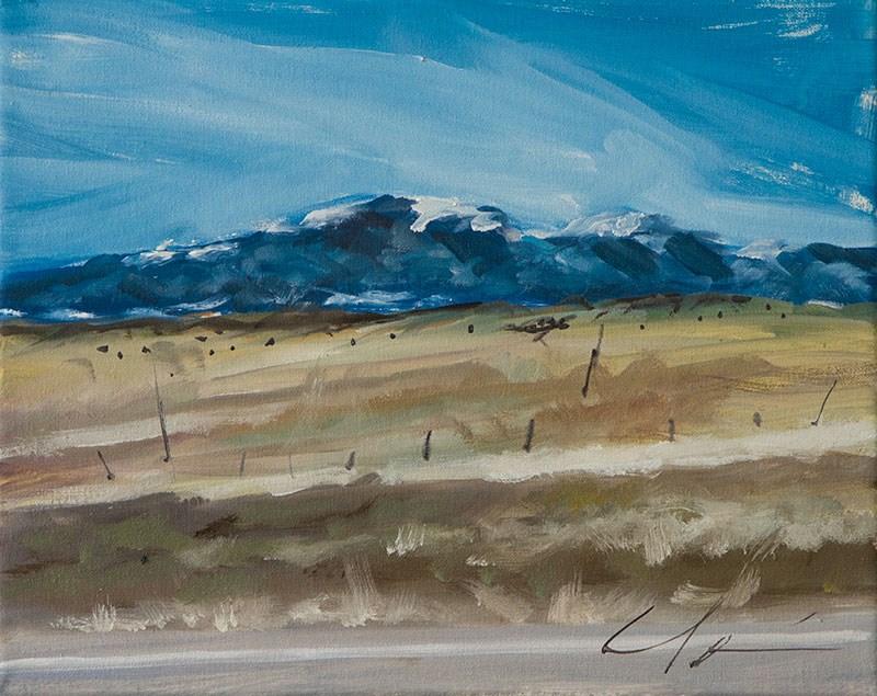 """Three Roads"" original fine art by Clair Hartmann"