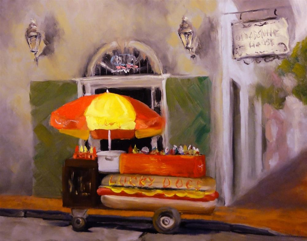 """Lucky Dog Hot Dog Stand New Orleans"" original fine art by Dalan Wells"