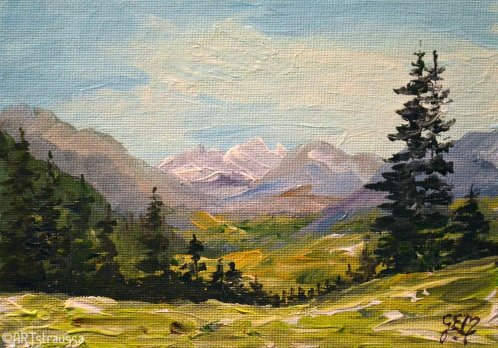 """""""Austrian Alps"""" original fine art by Gloria Ester"""