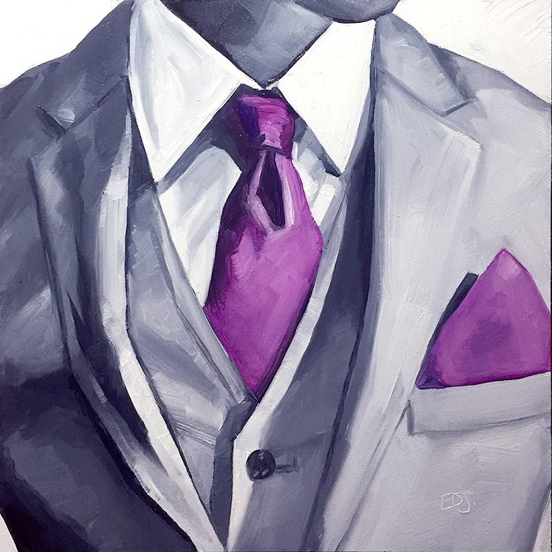 """""""One Cool Guy"""" original fine art by Elizabeth Dawn Johnston"""