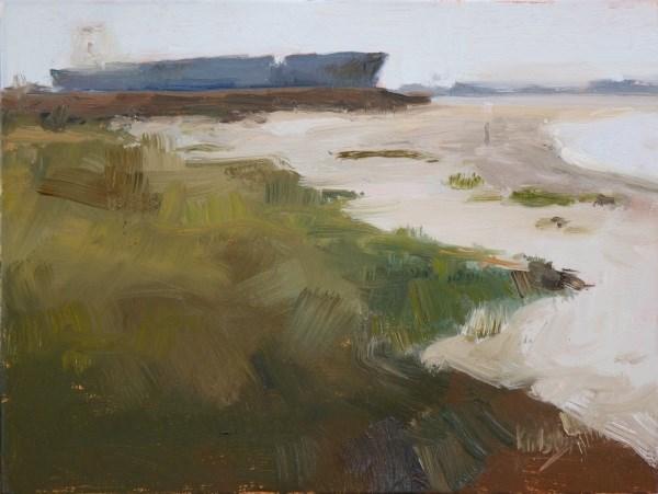 """Afternoon at East Beach"" original fine art by Randall Cogburn"