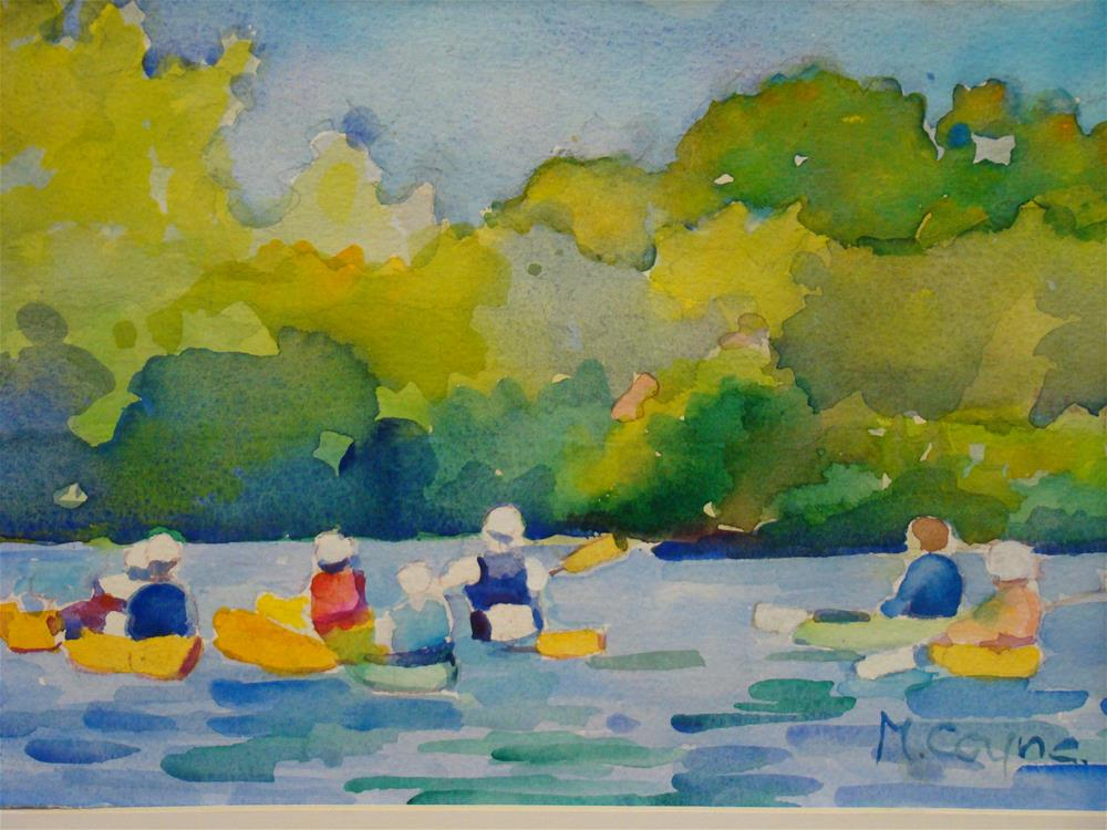 """kayaking"" original fine art by meribeth coyne"
