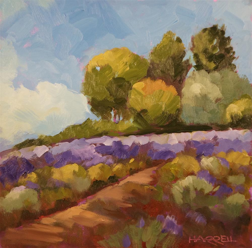 """Ravencroft Lavender"" original fine art by Sue Harrell"