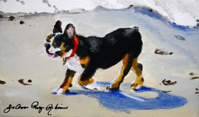 """Beach Comber"" original fine art by JoAnne Perez Robinson"