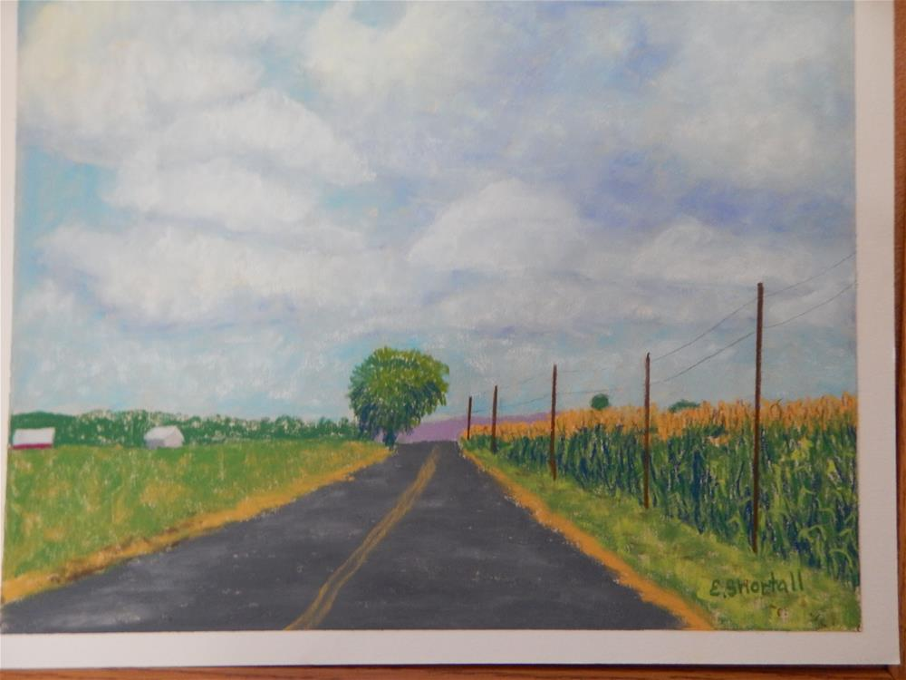 """""""On the Way to Town by Way of Kingston Road"""" original fine art by Elaine Shortall"""