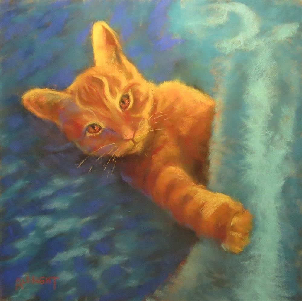 """Hell Boy, Undercover Cat"" original fine art by Judy Albright"