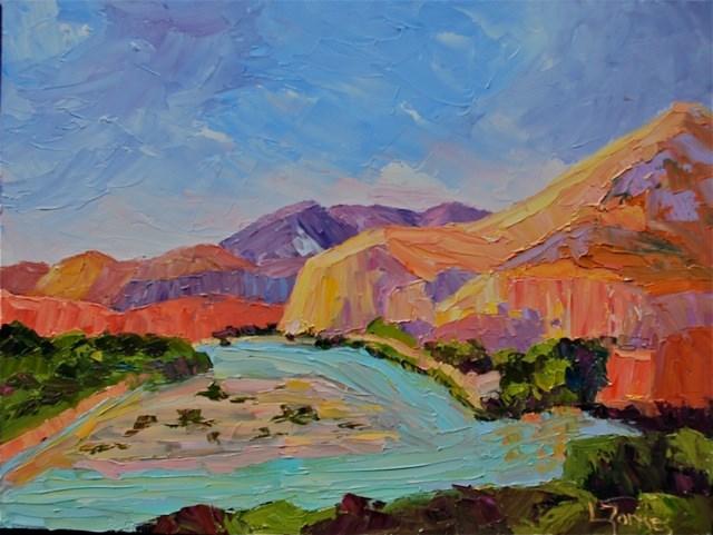 """Meandering Rio Grande"" original fine art by Liz Zornes"