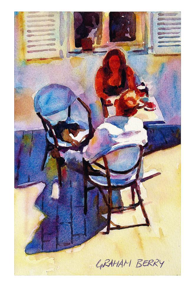 """Tete-a-Tete."" original fine art by Graham Berry"