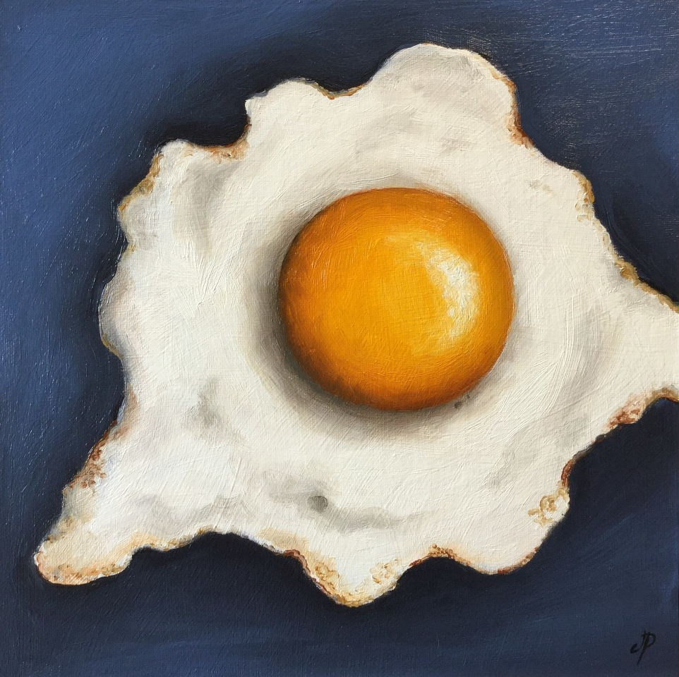 """Big fried egg"" original fine art by Jane Palmer"