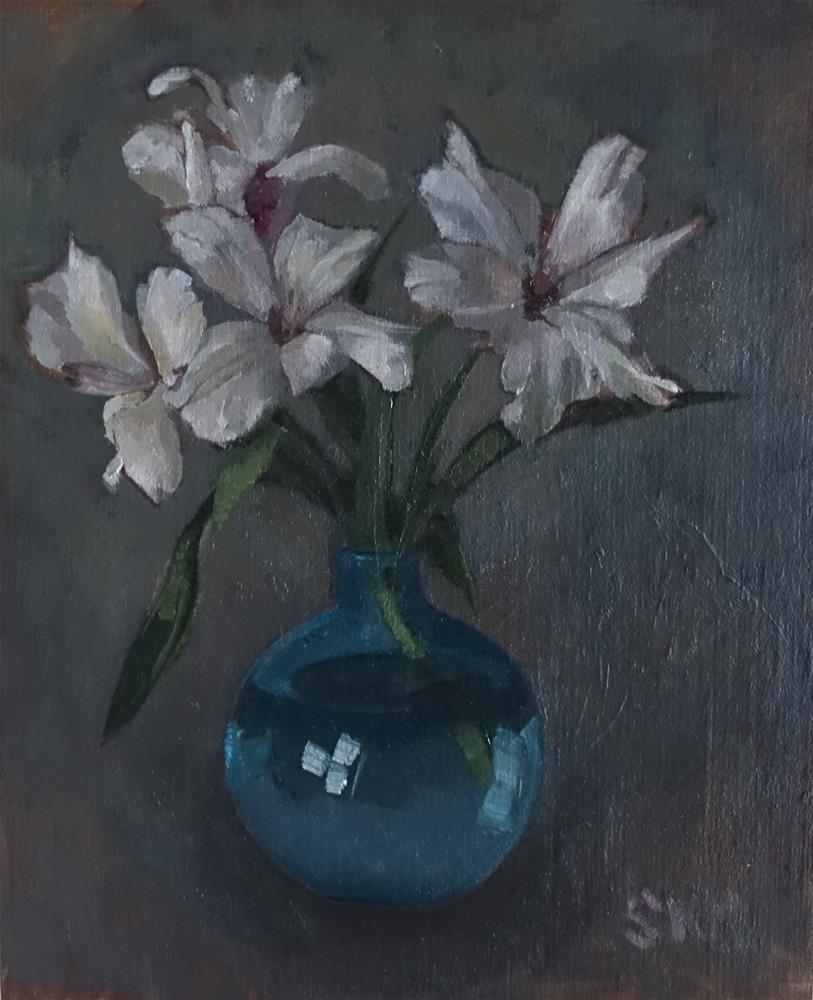 """one day flower"" original fine art by Sarah Meredith"