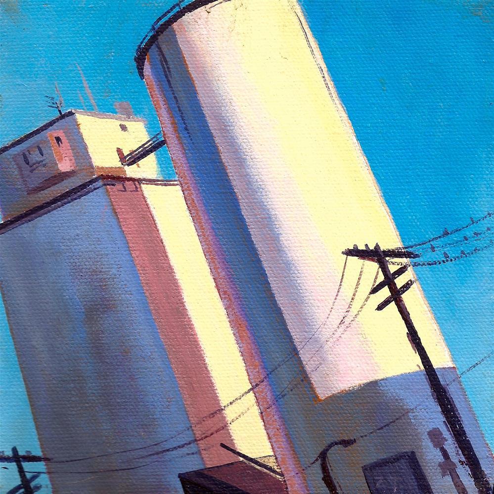 """Jackson Street Silos #2"" original fine art by Zack Thurmond"