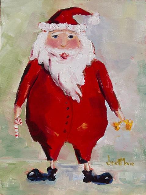 """Santa One"" original fine art by - JanettMarie"