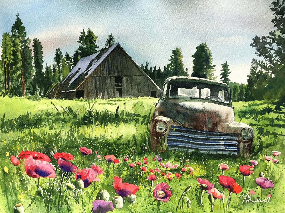 """June Chevy"" original fine art by Andy Sewell"
