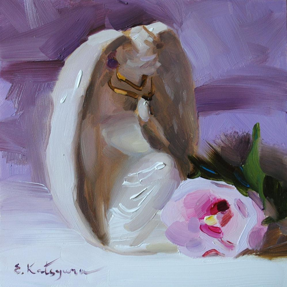 """An Angel"" original fine art by Elena Katsyura"