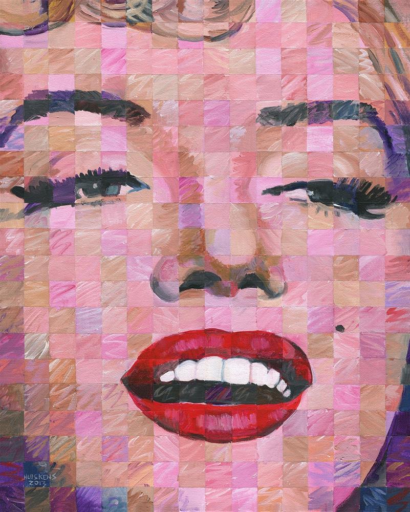 """Marilyn Monroe #9"" original fine art by Randal Huiskens"