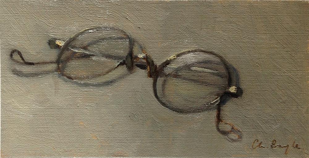 """Les binocles"" original fine art by Christine Bayle"