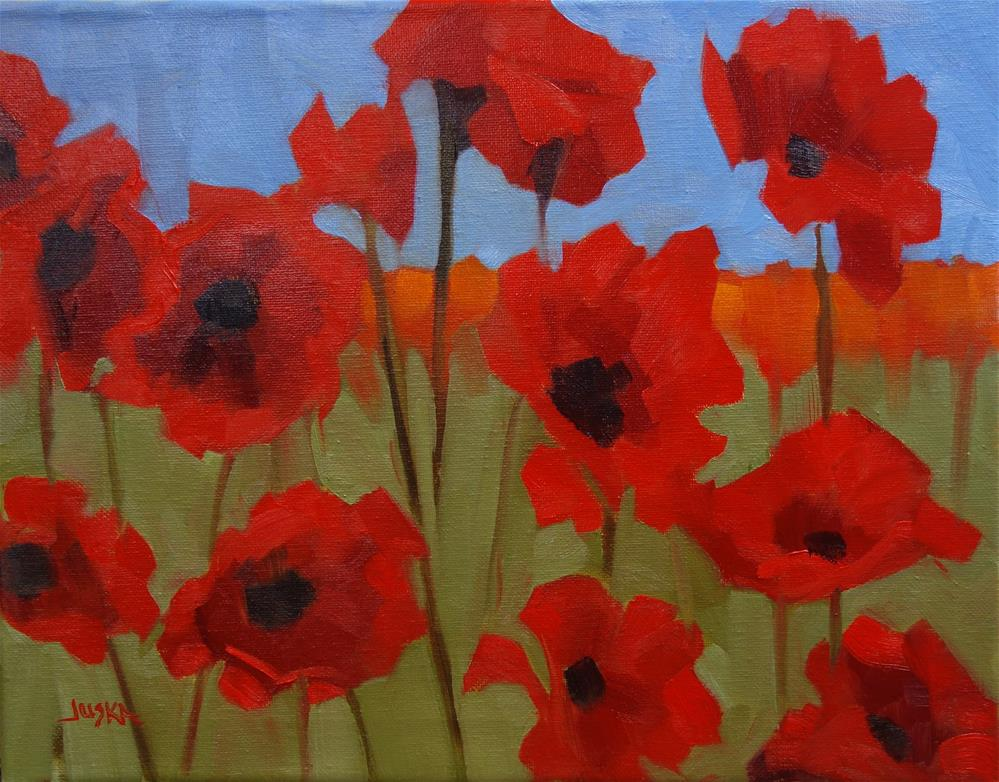"""Poppies"" original fine art by Elaine Juska Joseph"