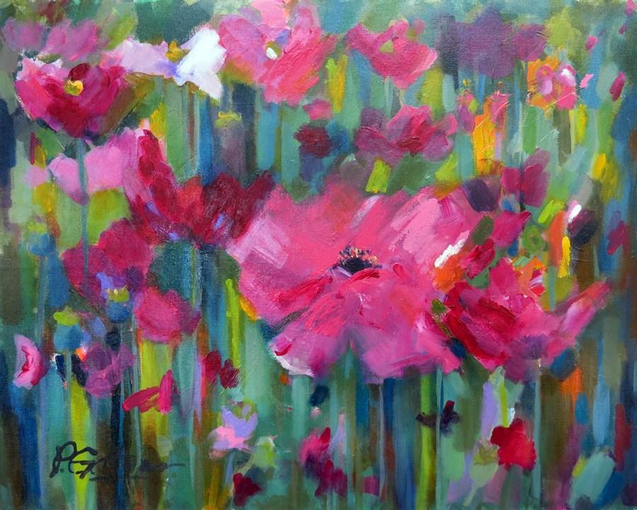 """Poppy Talk"" original fine art by Pamela Gatens"