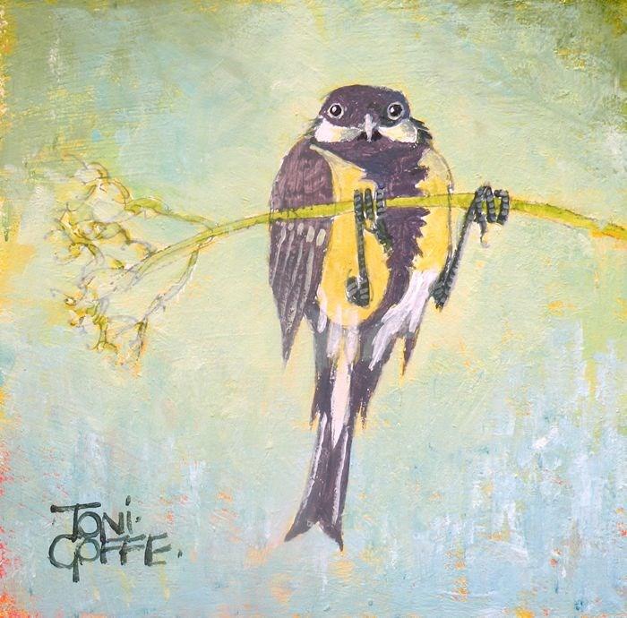 """GreatTit"" original fine art by Toni Goffe"