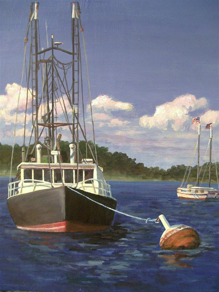 """The Mooring Buoy"" original fine art by Christine Blain"