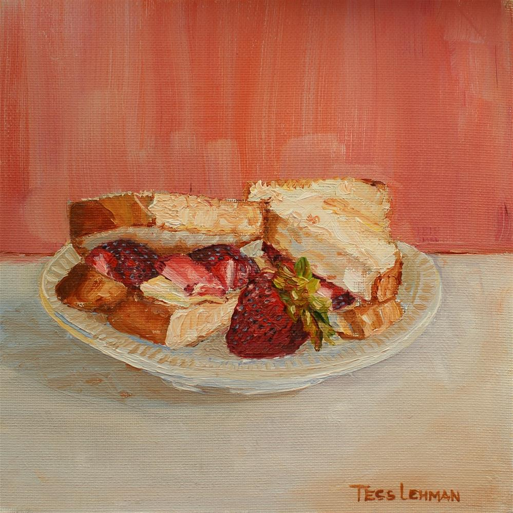 """Strawberry Sandwich"" original fine art by Tess Lehman"