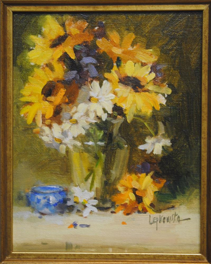 """Sunshine in a Vase"" original fine art by Laurie Johnson Lepkowska"