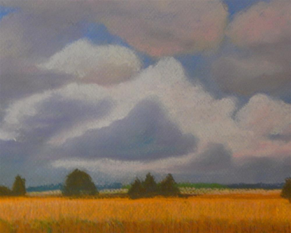 """Clouds Over Wheat"" original fine art by Elaine Shortall"